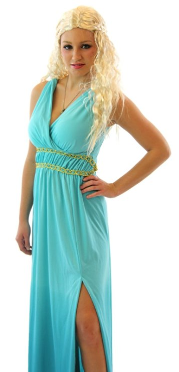 GoT Khaleesi Warrior Princess Costume with Wig