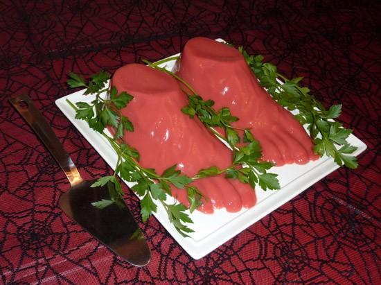 Jello Halloween Severed Feet Party Food